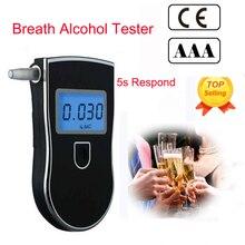 Alkotester Профессиональный Алкотестер полицейский детектор портативный алкотестер полицейский ЖК-дисплей цифровой дыхательный быстрый ответ