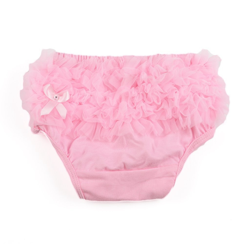 Briefs Bloomer Cover Layer For Bebe Girl Photography Prop Size S - Pink
