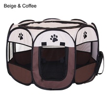 Portable Folding Pet tent Soft Fence Cage Dog House Cat Tent Playpen Puppy Outdoor Damp-proof Octagon Product