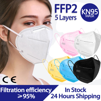 20-100pcs ffp2 mask KN95 Face Mask filter Dustproof Anti-fog And Breathable Face Masks 5-Layer Protection Mascarillas Reusable