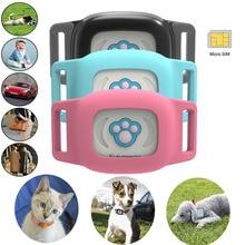 купить Pet Mini Smart Waterproof Anti Lost GPS Tracker Collar Dog Cat Global SMS Positioning Geo-Fence Real Time Tracking Locator D20 недорого