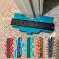 Контурный измеритель 12/14/25 см, пластиковый инструмент для разметки дерева и ламината