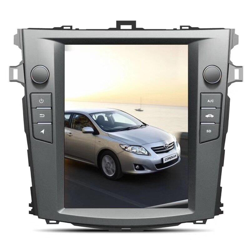 Chogath 10.4inch Car Multimedia Player Android 7.1 Car Gps Navigation 2+32G  Tesla Screen For Toyota Corolla 2007-2012