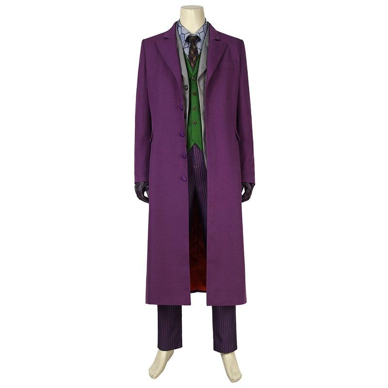 Batman The Dark Knight Cosplay The Joker Costume Heath Ledger Jacket Pants Props Adult Men Halloween Carnival Outfit Custom Made