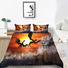 Sunset Bedding Set Flying Dragon Fashionable Fog D