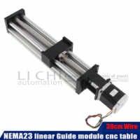 Free Shipping High Precision NEMA 23 stepper motor neam Linear Modules effective stroke 300mm Ball screw SFU1605 linear bearing