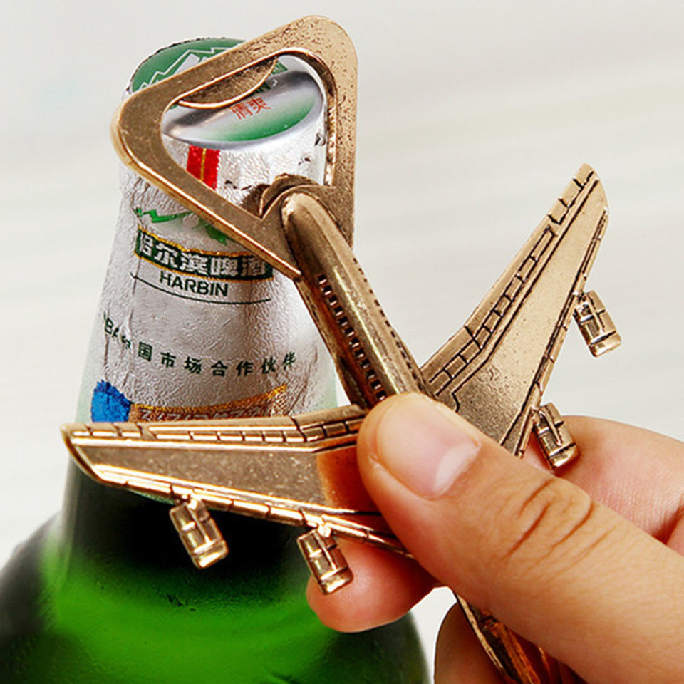 Details about  /Antique Airplane Air plane Shape Steel Beer Bottle Openers Cap Remover Kitchen