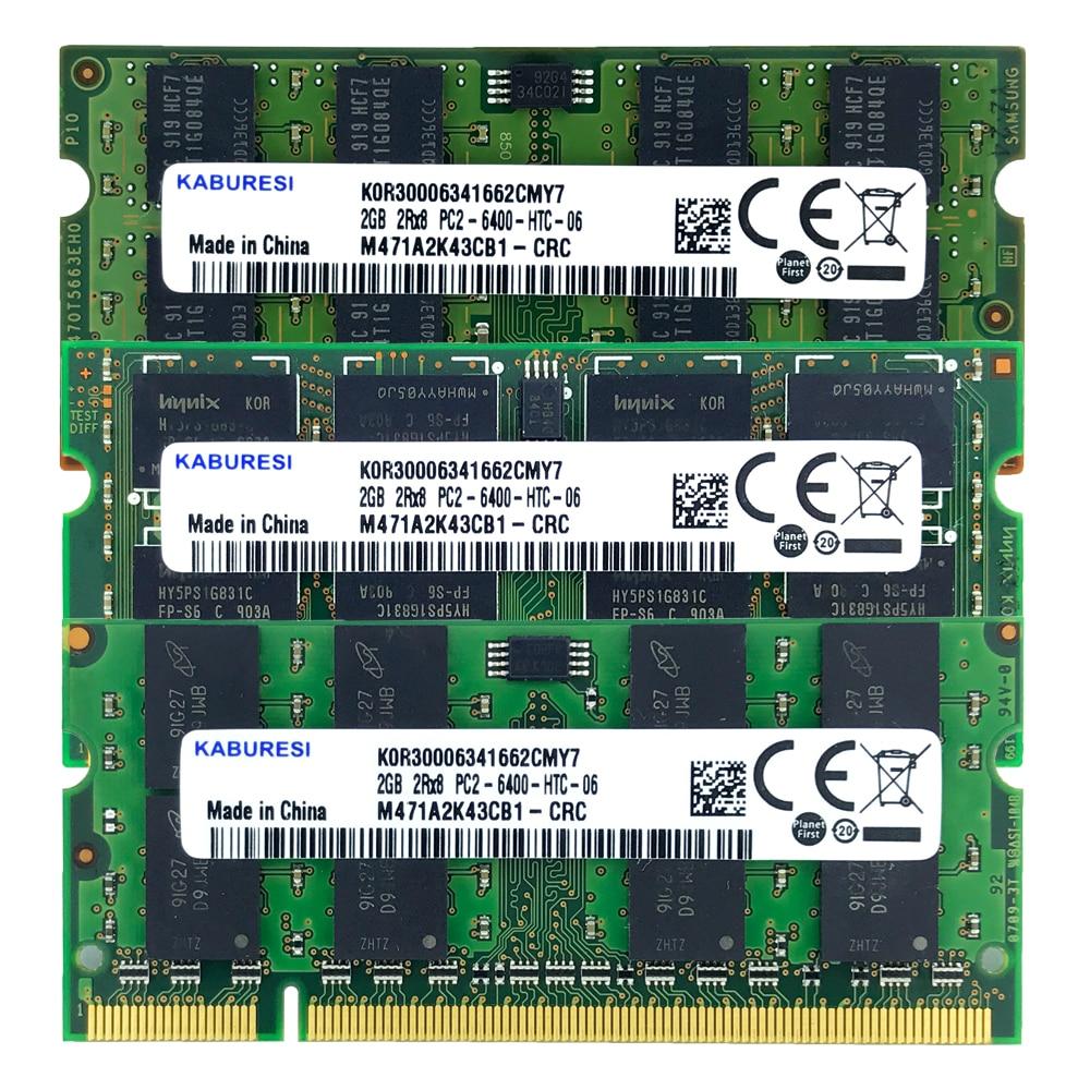 PC2-6400S memoria para computador portátil portátil sodimm 1.8 v duplo-canal