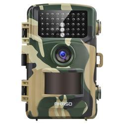 AKASO 2019 NEW TC04 Trail Camera 14MP 1080P Wild Life Hunting Scout Cam IP66 Waterproof Night Vision Camera 2.4  LCD IR LED