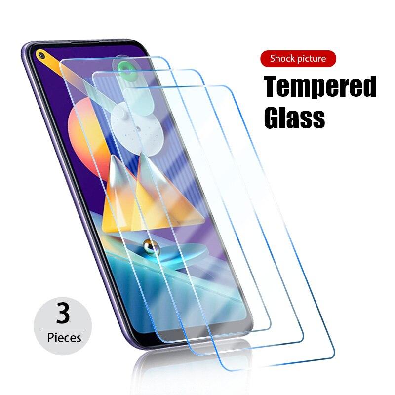 Защитное стекло, закаленное стекло для Samsung Galaxy S6 S7 S10E S10 Lite Note 10 Lite 5 7 J2 J3 J5 HD 9H, 3 шт.