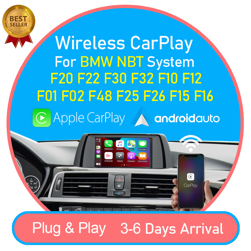 Wireless CarPlay Android Auto interface Box for BMW F20 F22 F30 F32 F10 F12 F01 F48 F25 F26 F15 F16 2013-2017 NBT MuItimedia iOS(China)