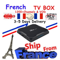 Лучший французский IPTV Box X96 Max Android TV Box с 1400 + 1 год с системой Neo IPTV Европа Франция арабский francais Morocco M3U Smart TV Box tv
