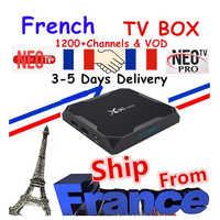 Best Francese IPTV Box X96 Max Android TV Box con 1400 + 1 Anno NEO IPTV Europa Francia Arabo francais marocco M3U Smart TV Box tv