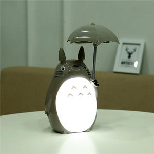 Totoro-Lamp Lightings Reading Led-Night-Light Rechargeable Kawaii Cartoon No for Kids