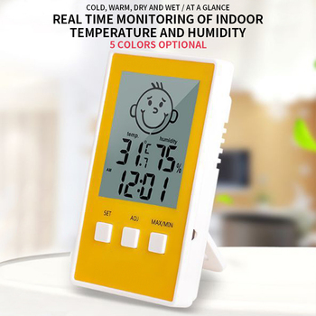 New Digital Thermometer Hygrometer Indoor Outdoor Temperature Humidity Meter C/F LCD Display Sensor Probe Weather Station