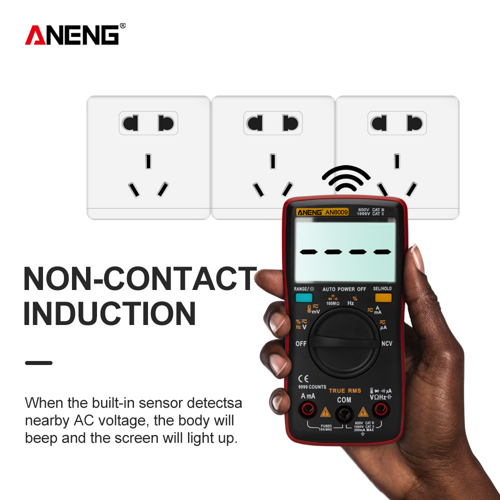 ANENG AN8009 True RMS Digital Multimeter transistor tester capacitor tester automotive electrical capacitance meter temp diode ANENG AN8009 True-RMS Digital Multimeter transistor tester capacitor tester automotive electrical capacitance meter temp diode