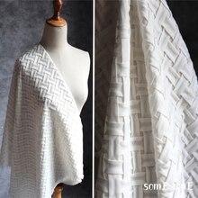 Designer Fabric Shirt Dress Garment Patches Chiffon Black White Transform Skirt Geometry