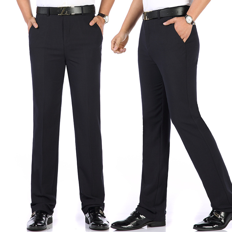 Spring Men Middle-aged MEN'S Trousers Middle Aged And Elderly People Trousers Loose-Fit Suit Pants Daddy Clothes Casual Pants Sp
