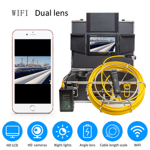 Image 1 - Exklusive Design 4500mAh HD Dual Kamera Objektiv Ablauf Kanalisation Pipeline Industrie Endoskop SYANSPAN Rohr Inspektion Video Kamera