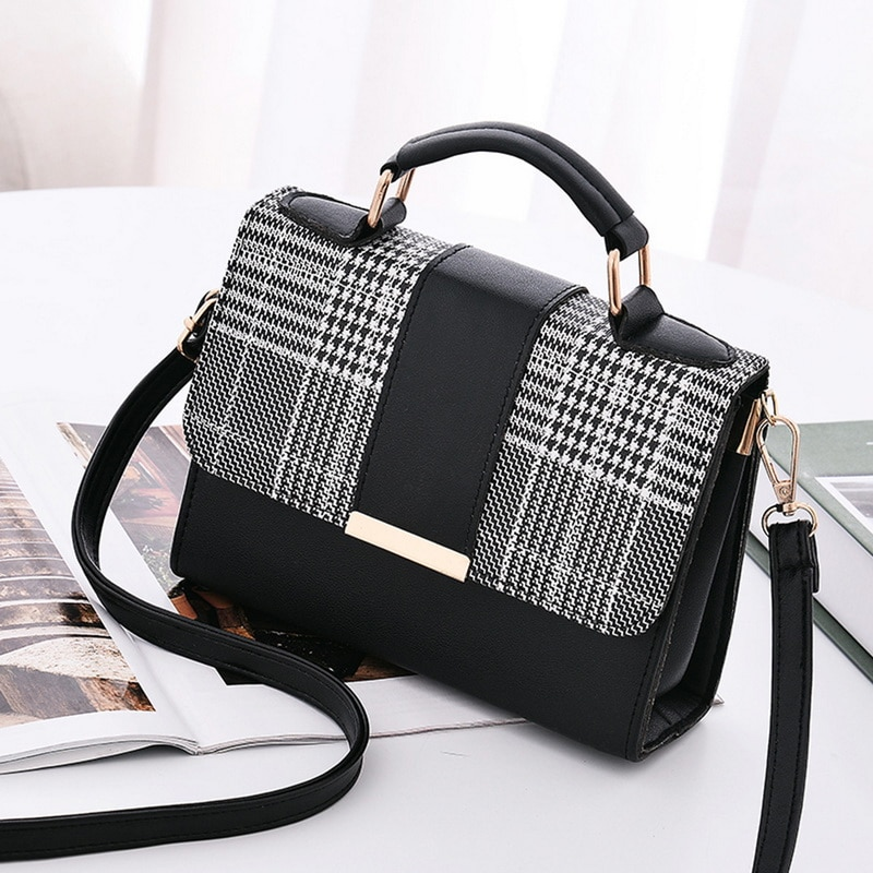 Women Fashion PU Leather Shoulder Small Flap Crossbody Handbags Top Handle Tote  Messenger Bags