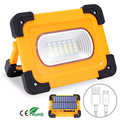 Solar LED Work Light USB Rechargeable Portable Floodlight 9000MAh Waterproof Magnet Flood Lights for Outdoor Camping Fishing Hik