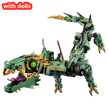 New 2021 Flying Mecha Dragon Building Blocks Bricks Toys Model Figures Model Gifts Compatible with City Friends 1