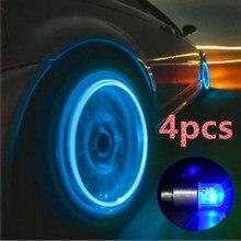 4 pçs acessórios de carros automóveis roda luz decoração pneu de bicicleta led luz deco led lighte pneu válvula tampa carros acessórios da motocicleta