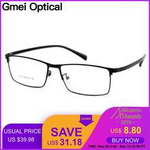 Gmei Optical Men Titanium Alloy Eyeglasses Frames for Men Eyewear Flexible Temples Legs IP Electroplating Alloy Spectacles Y7011(China)