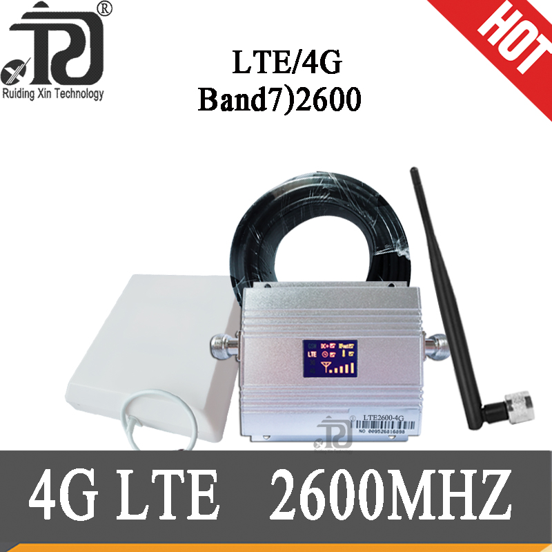 Russia 4g Repeater 2600 4g Signal Booster 70dB Gain Repetidor 4g Lte 2600 Mhz Cellular Amplifier 2600 Mobile Signal Booster