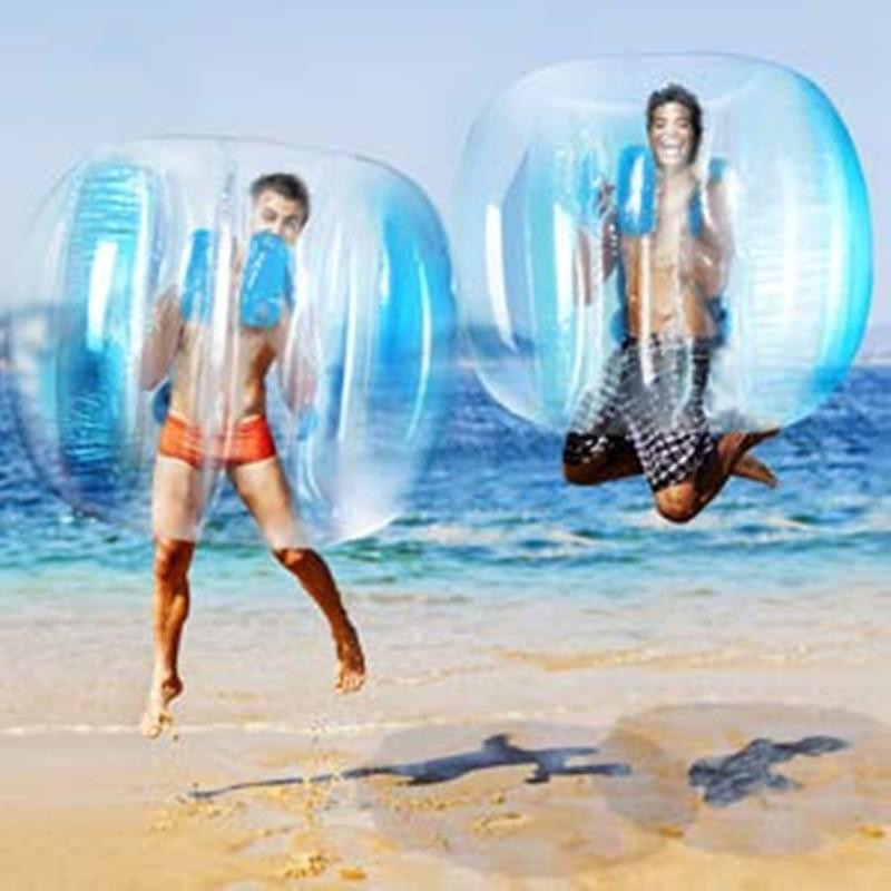 90cm Inflatable Air Bumper Ball Bubbles Outdoor Fitness Game Bubbles Zorb Ball Outdoor Inflated Zorb Body Bumper Ball Bubble Toy