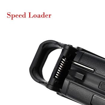 Universal Ammo Magazine Speed Loader dla 9mm 40 357 45 22 22LR dla prawie Glock 1911 CZ 75 P320 przenośny taktyczny Ammo Loader tanie i dobre opinie CN (pochodzenie) wf001 Odpadów żywności usuwający części Black Plastic