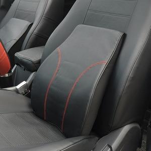 Car Pillows Big Car Backrest Cushion PU Leather Car Lumbar Cushion Back Support Cushion Supplies Memory Foam Pillow Relieve Pain