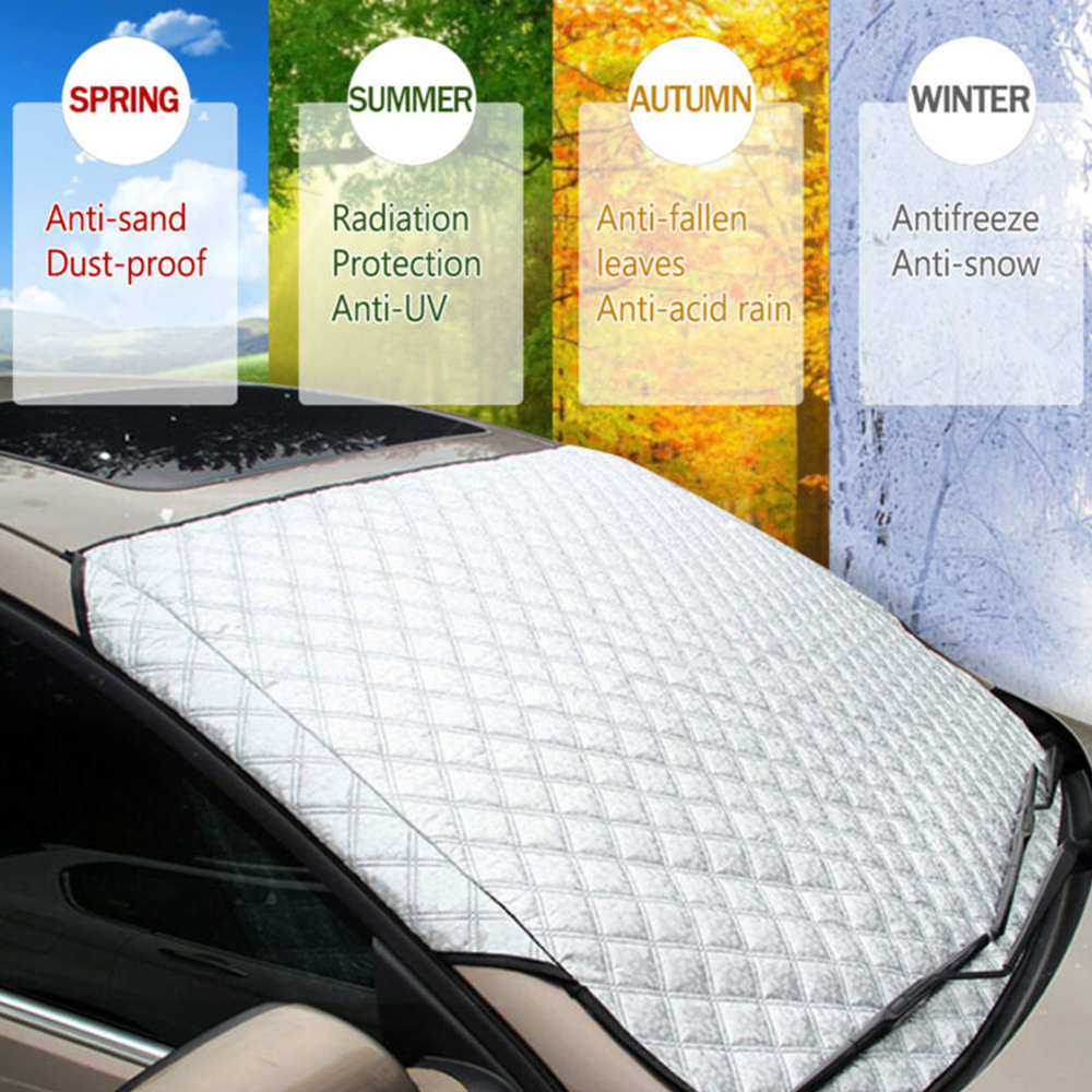 Protector Windshield-Cover Sun-Shade Acupuncture-Cotton Snow Winter Silver New Ice Frost-Guard