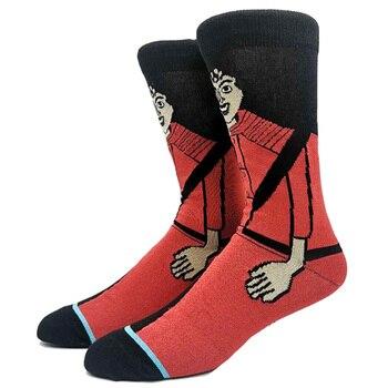 Cartoon Rabbit Sock Casual Hip Hop Creative Soft Comfortable Funny Novelty Skateboard socks Men Calcetines Hombre Divertido 11