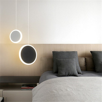 Nordic Simple Modern Led Hanging Lights Bedroom Bedside Lamps Iron Art Line Hanglamp Living Room Background Wall Pendant Lights Buy At The Price Of 40 00 In Aliexpress Com Imall Com