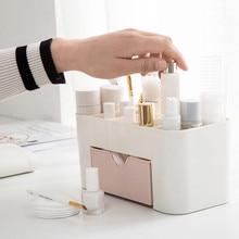 Makeup Organizer Saving Space Desktop Comestics Makeup Storage Drawer Type Box Organizador Maquillaje