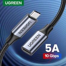 Ugreen USB C Verlängerung Kabel Typ C Extender Cord USB-C Thunderbolt 3 für Xiaomi Nintendo Schalter USB 3,1 USB Verlängerung kabel