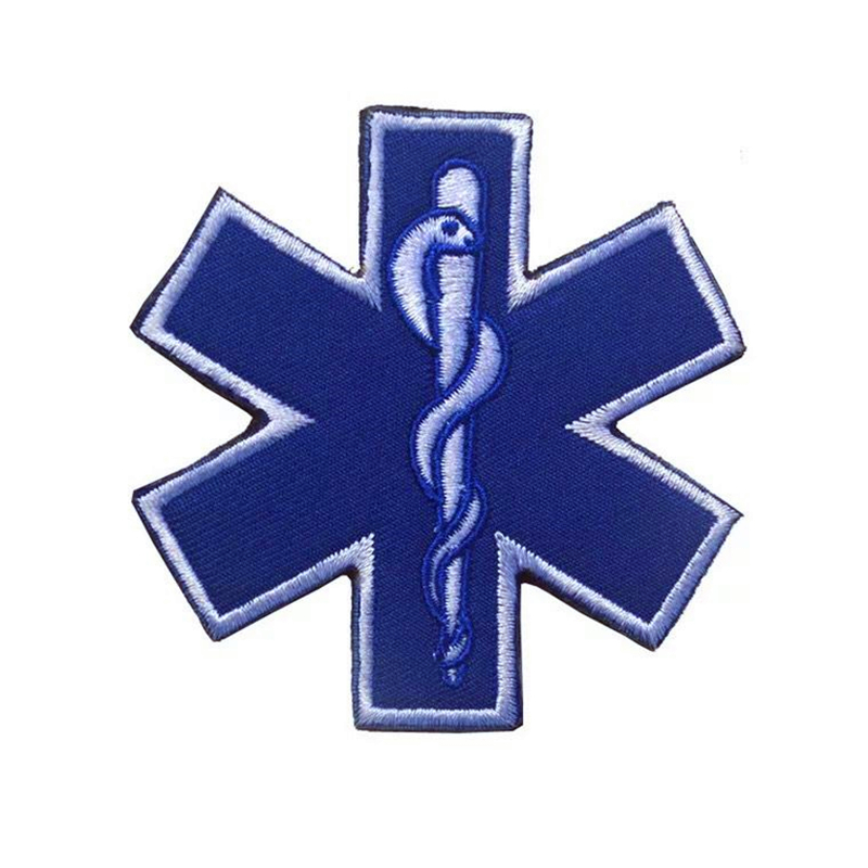 Embroidery Patch Rescue Star Of Life Embroidered Armband Paramedic EMT CPR AED First Aid Nurse DMTVelcro Reflective Fabric