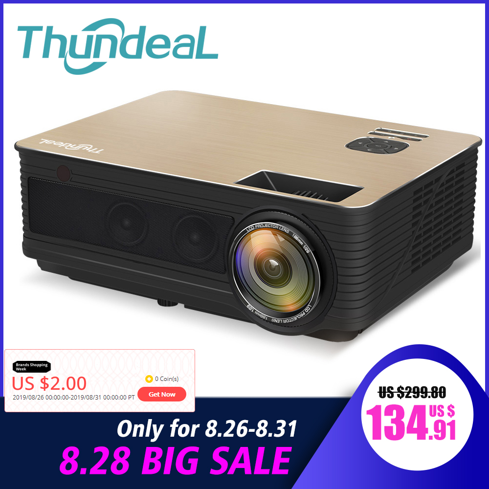 Thundeal Bluetooth Projector Wifi TD86 Android 1080p Led 4000 Lumen Full-Hd Tv-Video