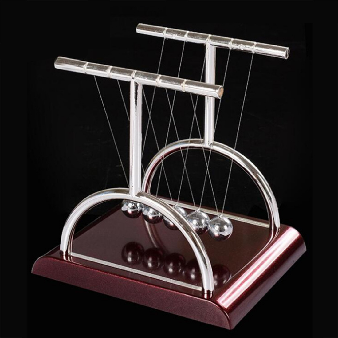 2019 New T Shaped Newton Cradle Balance Ball Science Puzzle Fun Desk Toy Stress Reliever Kinetic Motion Toy For Home And Office