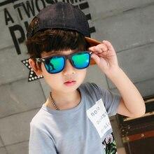 2020 crianças moda óculos de sol espelho quadrado óculos de sol marca design óculos de sol para meninos e meninas design eyewear ua400