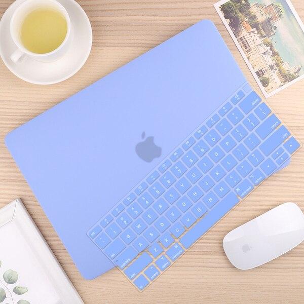 Чехол для ноутбука 4 в 1 для MacBook Air 11, 13 дюймов и Pro retina 13,3, 15,,,, кристально Матовый Жесткий чехол для клавиатуры - Цвет: Solid Blue