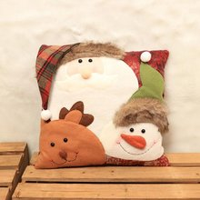 NEW Christmas Festival Pillow Santa Claus Printing Dyeing Sofa Bed Home Decor Pillow Cover Bedroom Christmas Cushion Cover Decor