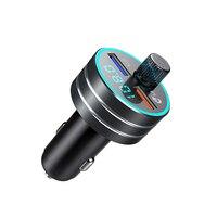 fm משדר נגני MP3 KAJARN רכב משדר FM VR רובוט FM אפנן Bluetooth 5.0 USB כפול דיבורית לרכב מתאם אלחוטי Charge (3)