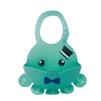 Baby Silicone Bibs Waterproof Feeding Baby Saliva Towel Newborn Cartoon Octopus Aprons Baby Bibs Adjustable Bandana Burp Cloths