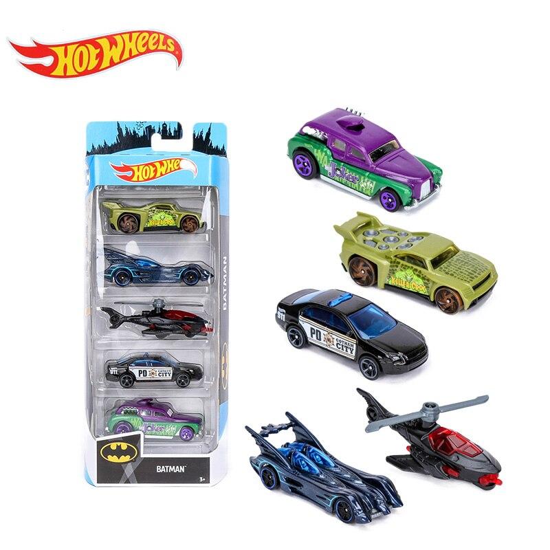 2019 Original 5Pack Hotwheels Cars Hot Wheels 1:64 Fast And Furious Diecast Cars Alloy Sport Cars Batman Speed Blur HW Exotics Collection Model Toys