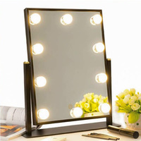 10Pcs Makeup Mirror Vanity Led Light Bulbs Lamp Kit Lighted Make Up Mirrors Cosmetic Lights Dimmable Hollywood Makeup Light
