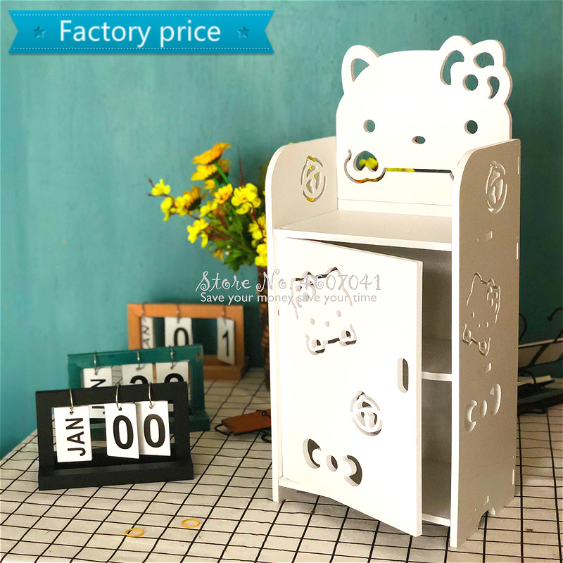 Kids Cartoon Bedside Table Creative Modern Minimalist Bedroom Nightstand For Boys & Girls Multi-layer Storage Cabinet Shelf