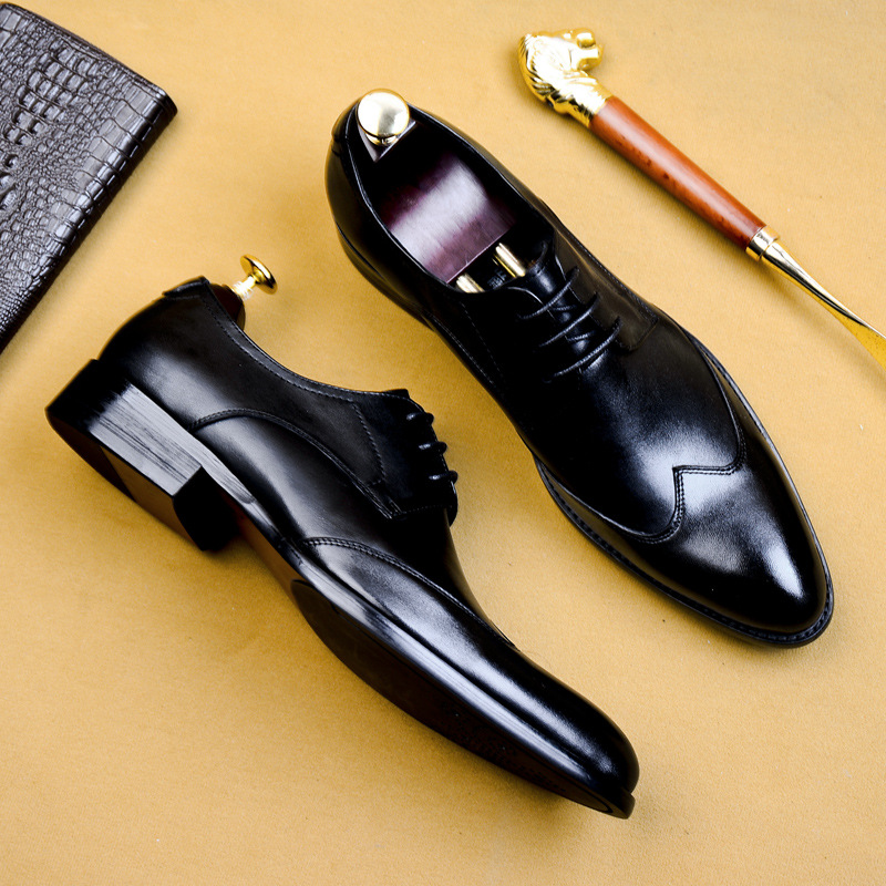 DESAI 2019 High Quality Handmade Oxford Dress Shoes Men Genuine Cow Leather Suit Shoes Footwear Wedding Formal Italian Shoes Hot