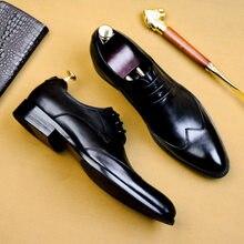 DESAI – chaussures de costume Oxford en cuir de vache véritable pour hommes, souliers de haute qualité, faites à la main, souliers italiens de mariage, tendance, 2020